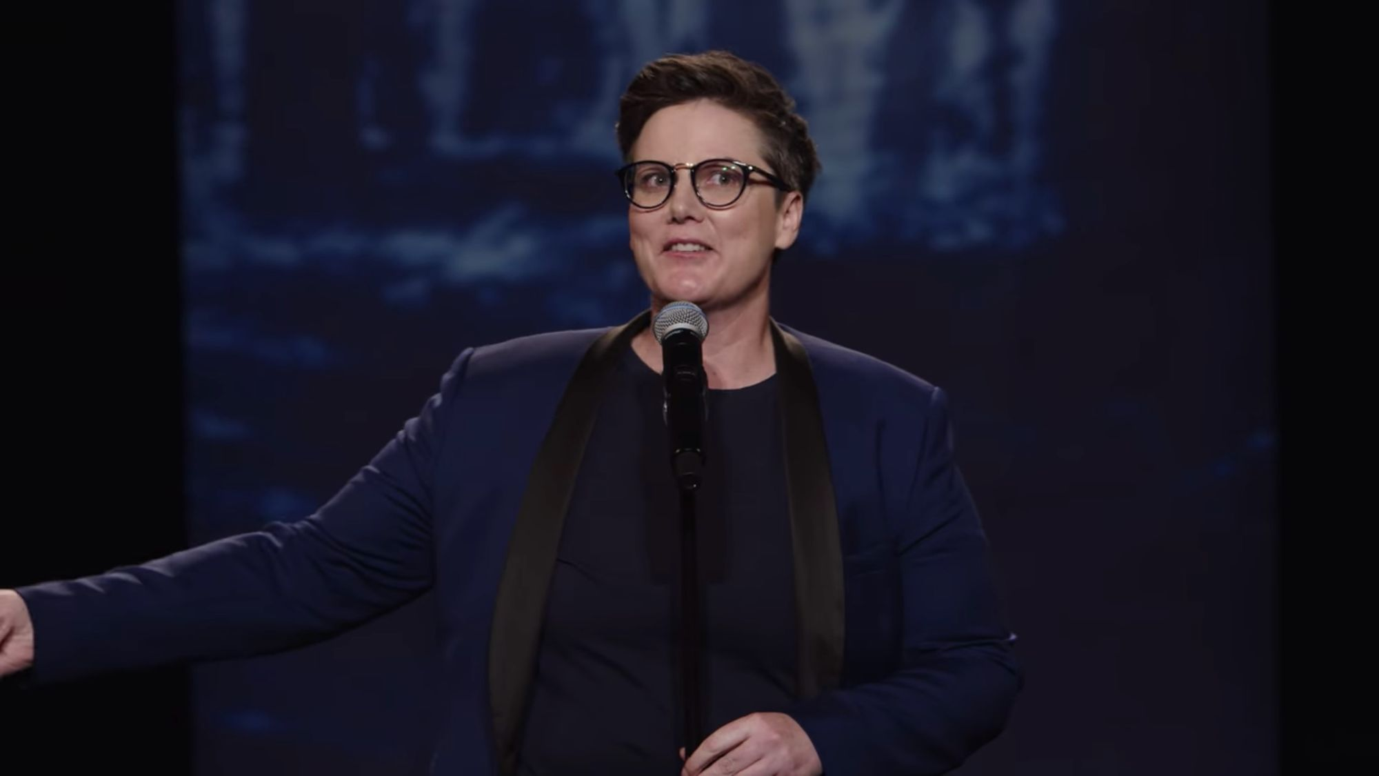 Hannah Gadsby performing Nanette