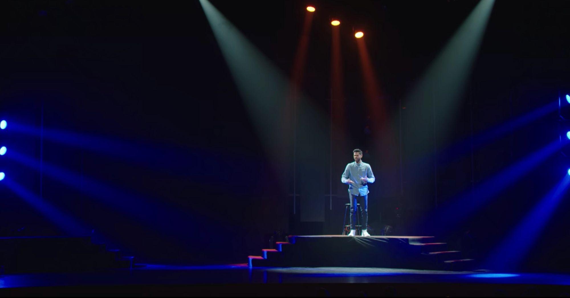 Hasan Minhaj performing Homecoming King